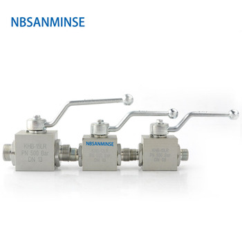 NBSANMINSE Hydraulic Ball Valve KHB 06 ~ 20 LR SR  Normal Temperature High Pressure Hydraulic ball Valve 31.5Mpa 315 bar supply swh g02 hydraulic valve electromagnetic reversing valve hydraulic station special hydraulic component quality assurance