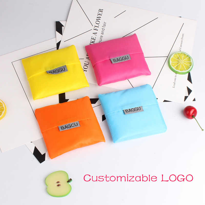 LOGO custom kitchen organizer reusable produce bags shopping bag reusable fruit storage handbag Customized Gift for Promotions