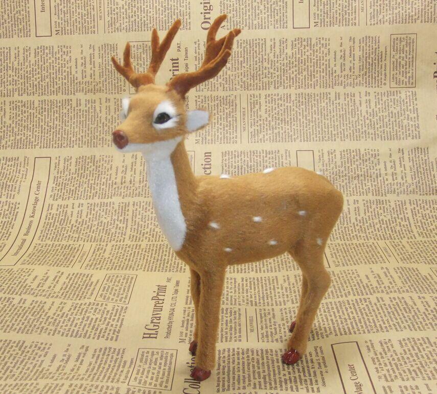 simulace zvířete sika jelen model 20x17cm hračka polyethylen a kožešiny Pryskyřice řemesla, rekvizity, vánoční dárek, domácí dekorace d0047