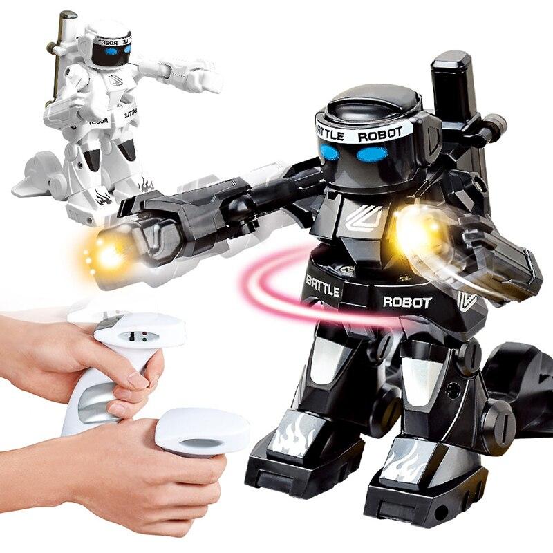 2,4G Körper Sinn Schlacht fernbedienung roboter RC intelligente roboter Kampf Spielzeug Für Kinder Geschenk Spielzeug Mit Box Licht und Sound Boxer