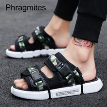Phragmites 2019 New Men Sandals Fashion Korean Casual Sport Sandals Big Size Summer Shoes Beach Breathable Slippers Slides
