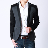 2013 Men S Round Down Hem Slim Suit Jacket Korean Casual Men S Plus Size Stitching