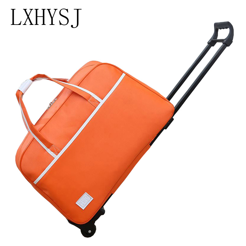 The New Waterproof Luggage Bag Thick Style Rolling Suitcase Trolley Luggage Men and Women Travel Bag