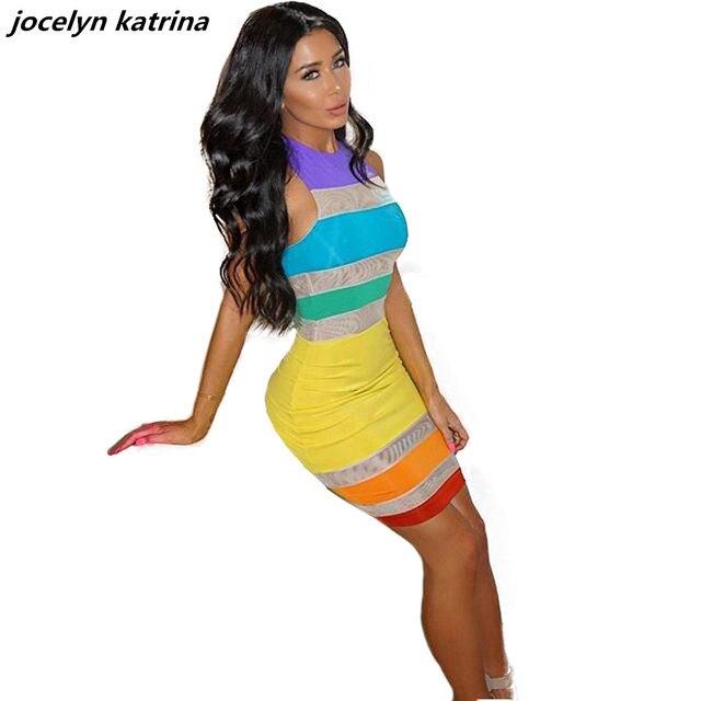 Jocelyn katrina marke frauen sommer dress neon farbe sexy dress ...