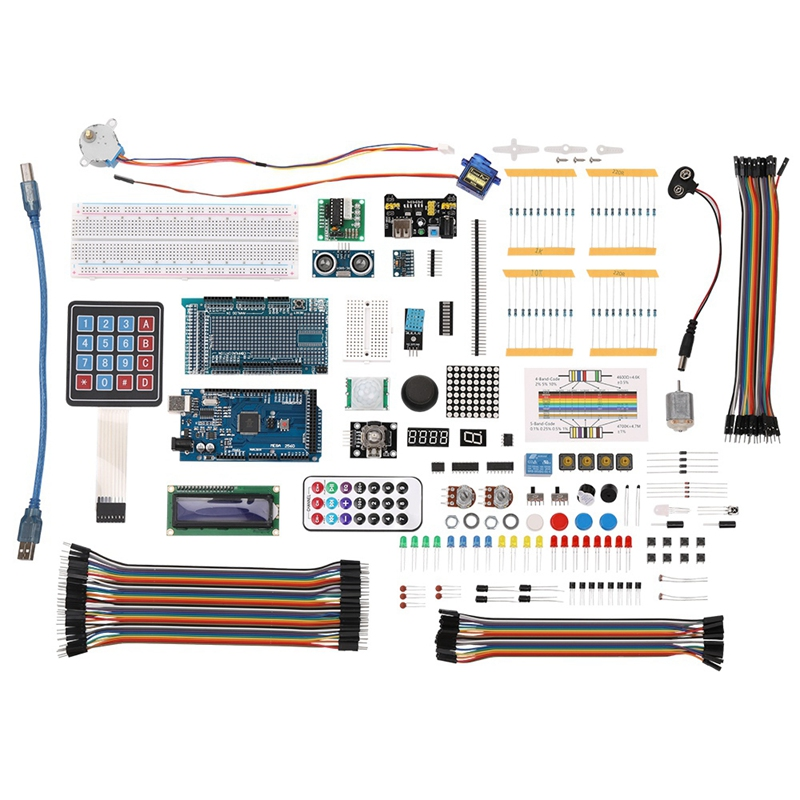 DSHA Diy Electronics Component Set With Plastic Box Suitable Ultimate Starter Learning Kit For Arduino Mega 2560 Lcd1602 Servo