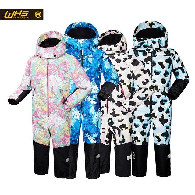 WHS Новинка 2017 года для маленьких детей Зимние костюмы детская Лыжная куртка подростков ветрозащитный пальто девочка на лыжах зимняя куртка 4 до 16 лет куртка