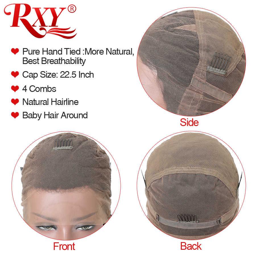 RXY Pré Arrancadas Cheia Do Laço Perucas de Cabelo Humano Para As Mulheres Negras Onda Do Corpo Brasileiro Glueless Perucas Cheias Do Laço Com O Bebê cabelo Remy Cabelo