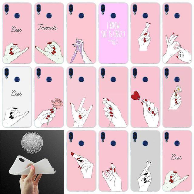 Caso de telefone presente Melhor Amigo namorado Namorada de Compras menina Para Huawei Honor 10i 9i Lite 7x 8x max 8c 8a 7a pro 6x V20 Paly