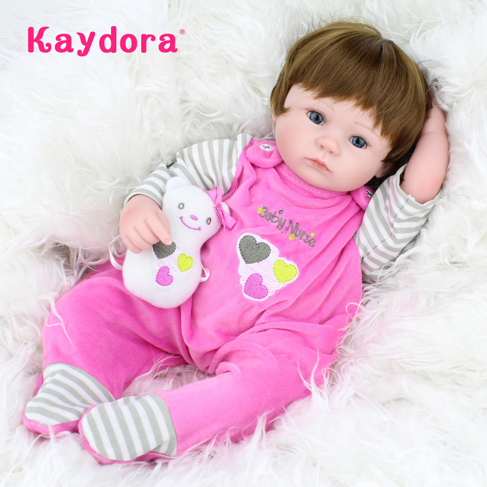 Kaydora 40 CM Handmade BeBe Dolls Reborn 17 Alive Dolls For Girls Soft Silicone Reborn Baby Dolls Real Baby Dolls For Sale 22inch full silicone reborn baby dolls for sale baby alive newborn baby girl dolls handmade lifelike washing dolls for girls