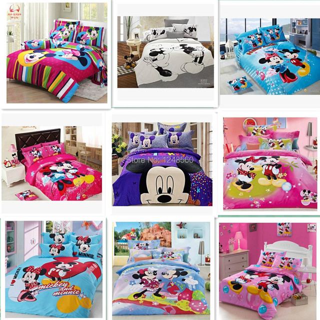 100 Baumwolle Luxus Mickey Und Minnie Betten Minnie Mouse