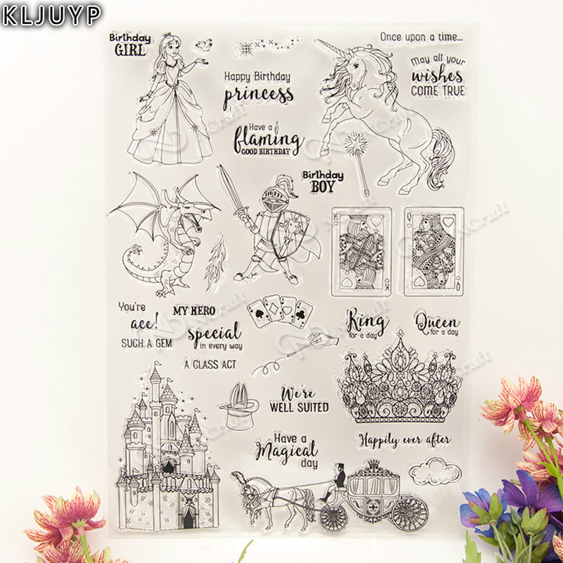 KLJUYP Fairy Tale World Transparent Clear Silicone Stamp/Seal for DIY scrapbooking/photo album Decorative clear stamp sheets lovely animals and ballon design transparent clear silicone stamp for diy scrapbooking photo album clear stamp cl 278