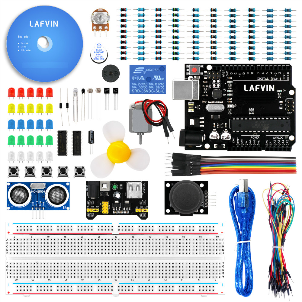 LAFVIN Basic Starter Kit For Arduino For Uno R3 MEGA 2560 With Tutorial