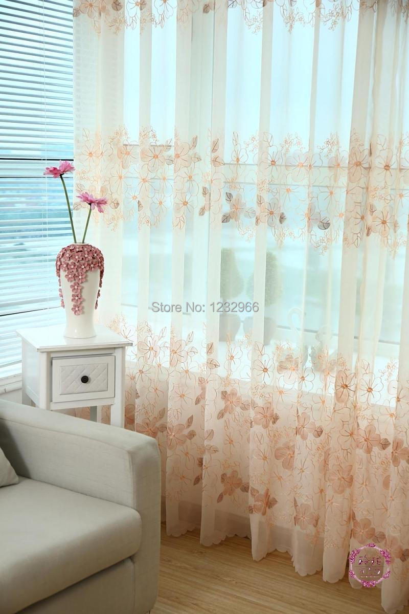 Cloth napkin picture more detailed picture about embroider embroider curtain viole floral modern embroidered embroidery curtain window cloth linen sheer voile curtains ccuart Gallery