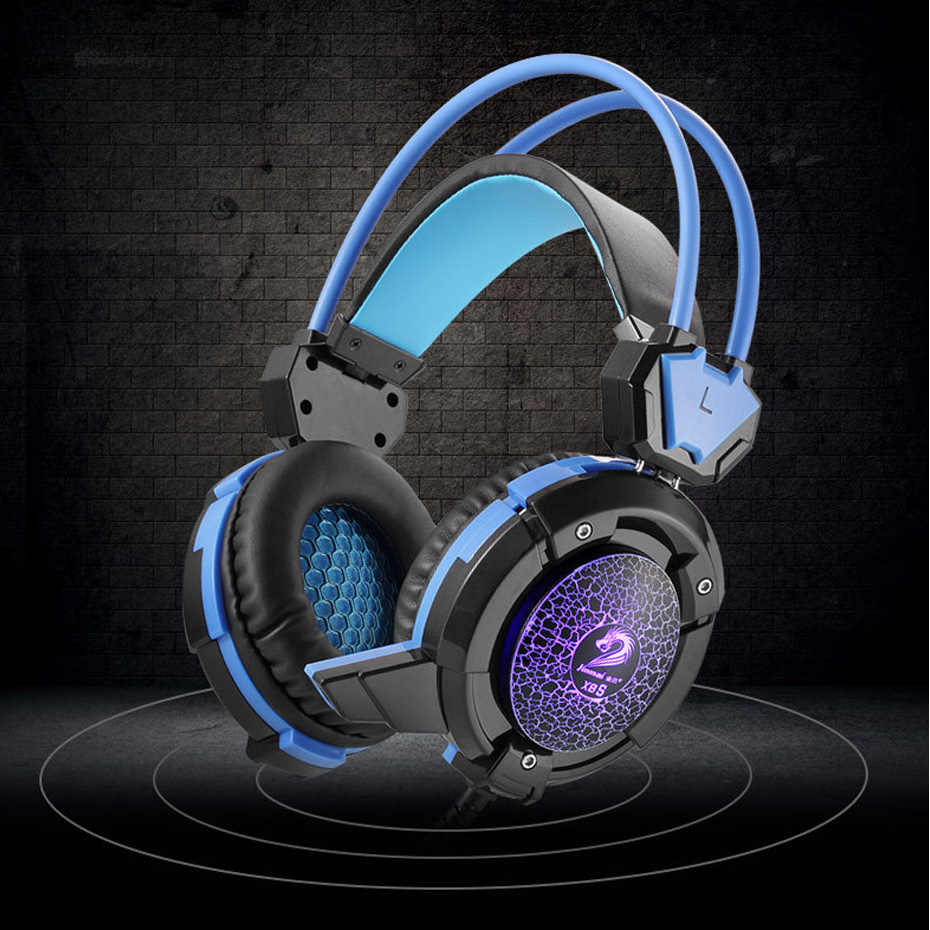 Gaming Headset Computer Game Headphones Luminous Noise Cancelling Big Earphone With Mic For Pc Games Hifi Headset for PC Gamers earfun brand big headphones with mic