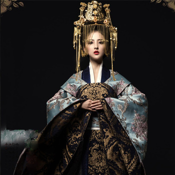 Jiu Qing Gorgeous Empress Costume for TV Play The Princess WeiYoung Costume Thematic Photography Hanfu Cosplay Long Tail маска от ветра и пыли qing long lin 08