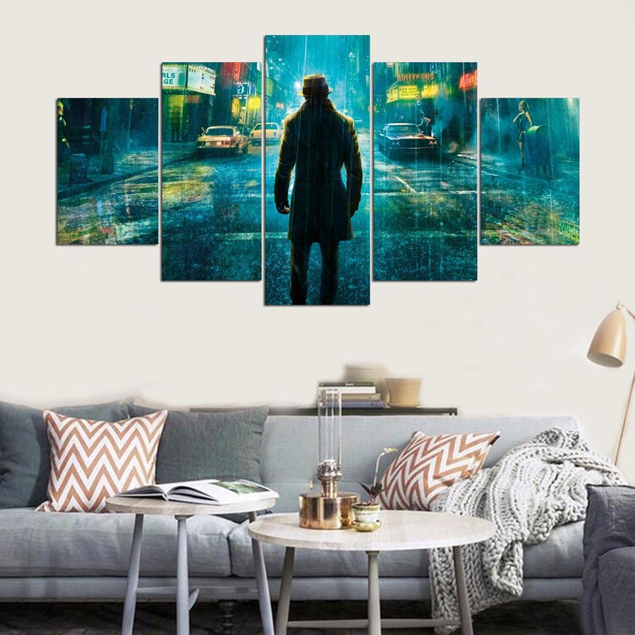 Canvas Wall Art Painting 5 Piece For HD Print Character Poster Home Decor