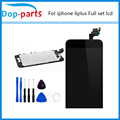 White & Black LCD Display Touch Screen Digitizer + Home Button Front Camera Assembly For IPhone 6 Plus 5.5 Inch Free Shipping