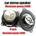 Nueva llegada 1 par envío libre de 4 pulgadas altavoces Coaxiales con cubierta parte de audio del coche 12 V MAX power music 140 W función de agudos