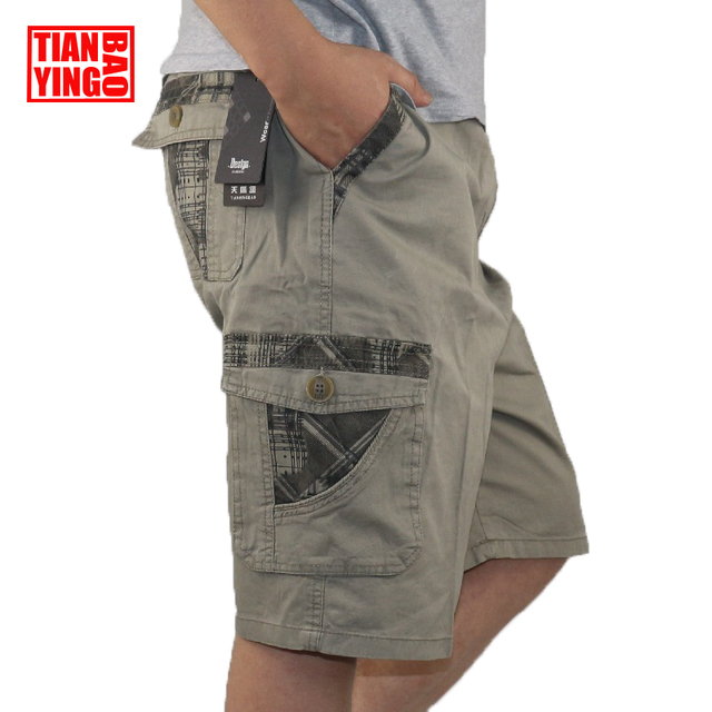 Summer Mens Cargo Shorts Cotton Army Military Men Loose Multi Pocket Casual Shorts Boys Cool Loose Baggy Trousers Plus Big Size
