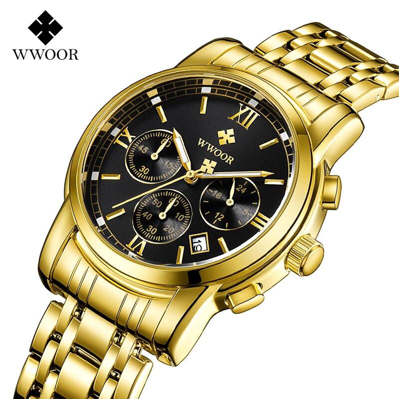 WWOOR décontracté haut tendance marque de luxe hommes montres étanche militaire Quartz horloge hommes montres montres montres Relogio Masculino