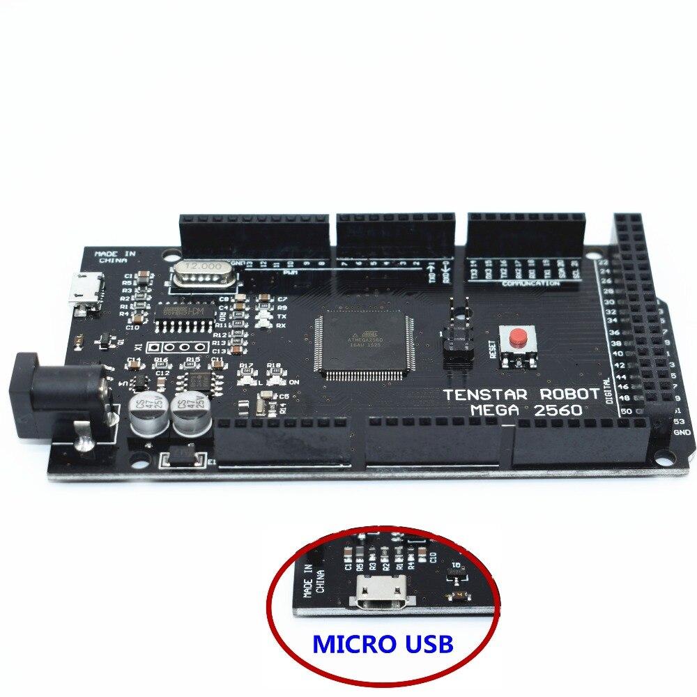 TENSTAR ROBOT Mega 2560 R3 CH340G/ATmega2560-16AU Puce MicroUSB. avec Bootloader