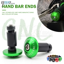 CNC 22MM Motorcycle accessories Handlebar Grips Handle Bar Cap End Plug For kawasaki SUZUKI GSR 600 400 750 GSR750 GSR600 GSR400