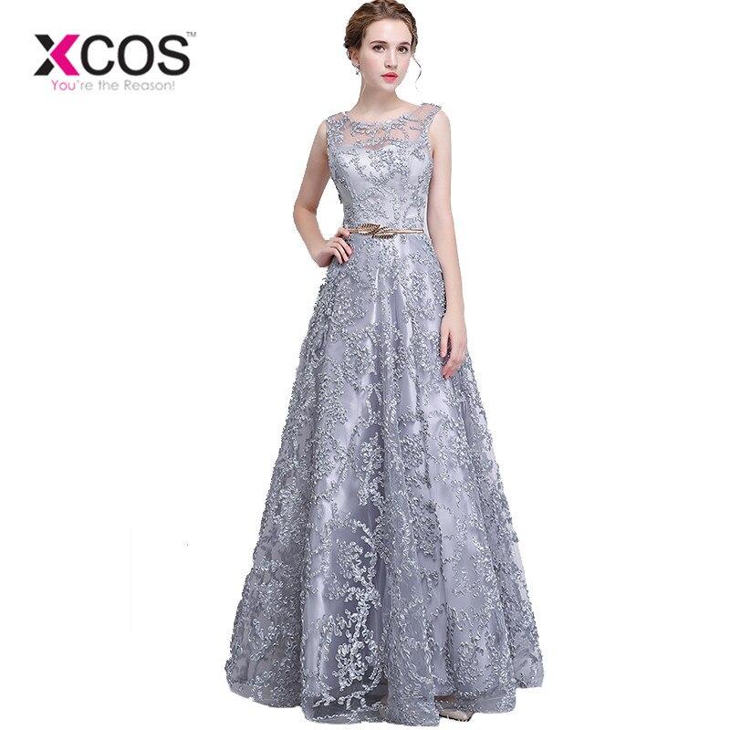 310f416f80 XCOS talla grande gris rojo 2018 vestidos de Madre de la novia Línea A  vestido de