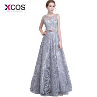 XCOS Plus Size Grey Red 2018 Mother Of The Bride Dresses A line Lace Wedding Party Dress Mother Dresses For Wedding