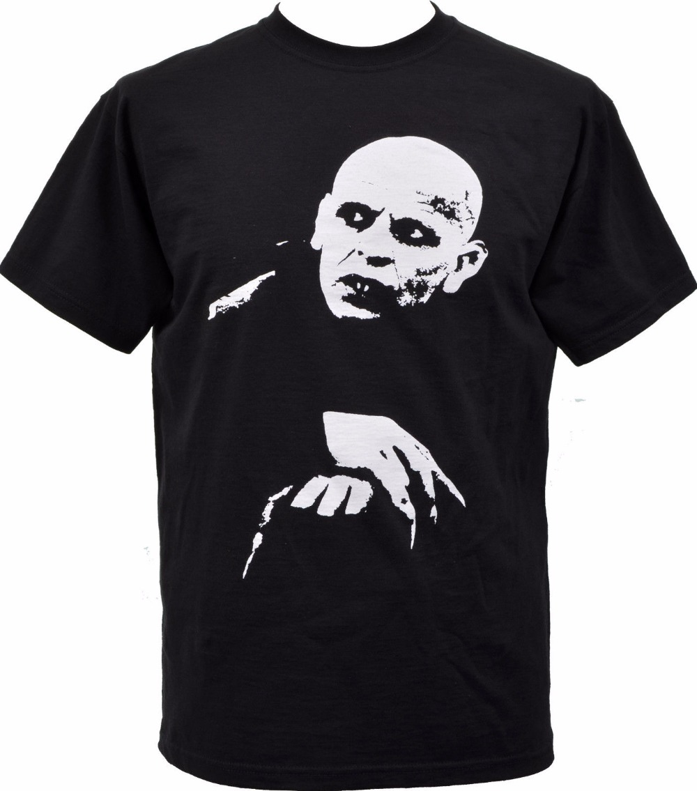 Mens Black T Shirt Nosferatu Vampire Classic Hammer Horror <font><b>Cult</b></font> Goth Punk S 3Xl Casual Short Sleeve <font><b>Tshirt</b></font> Novelty image