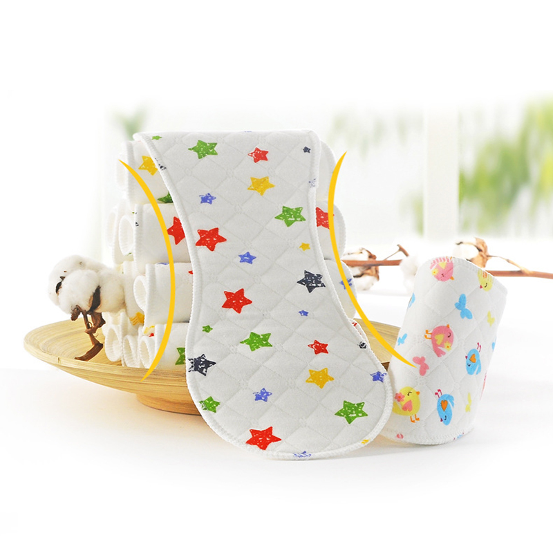 Reusable Baby Diaper Cloth Diaper Insert 1 Piece 3 Layer Insert 100% Cotton Washable Baby Care Product 10 Pieces Peanut Shape