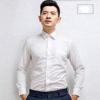 Tailor Made Men Long Sleeve Shirt Sunshine Handsome Groom Shirt Good Quality Formal Prom Dinner Occasions