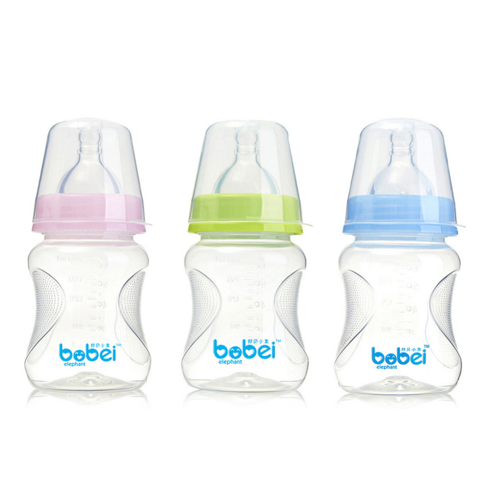 180ml Wide Feeder Non-slip Baby Bottle Natural Polypropylene Juice Milk Water Feeding Bottle Learning To Drink