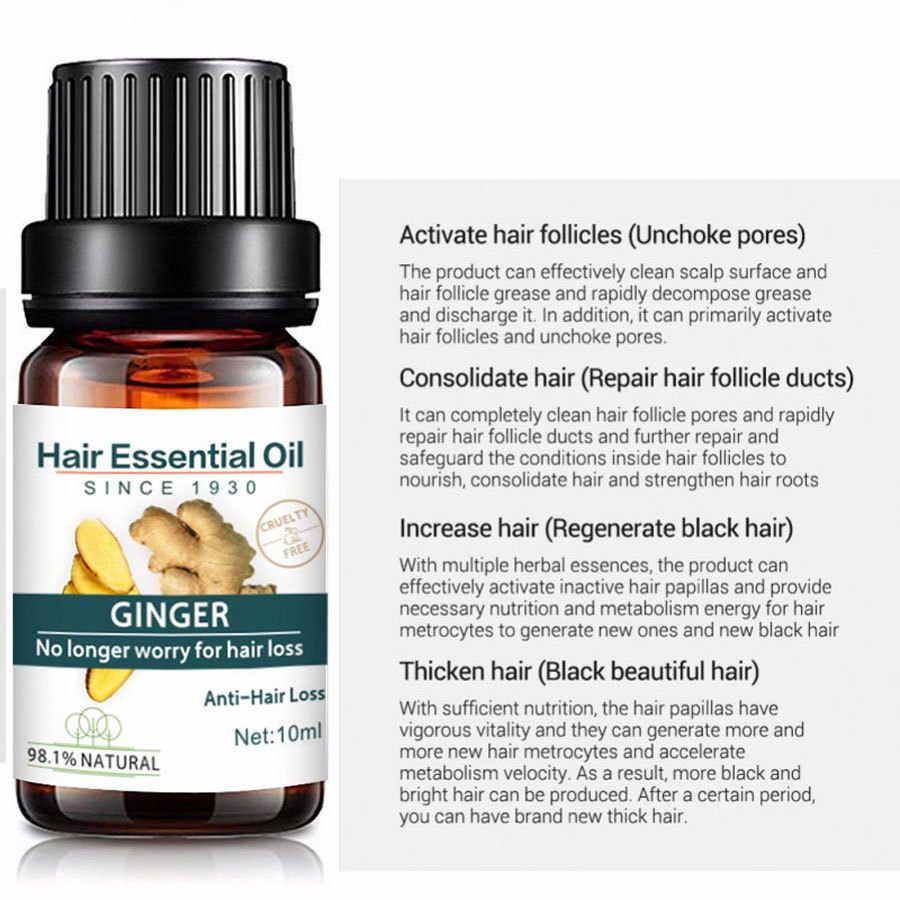 10ml Fast Powerful Hair Care Hair Loss Products Pilatory Ginger Essence Treatment Hair Loss Liquid Dense Hairs Grow oil