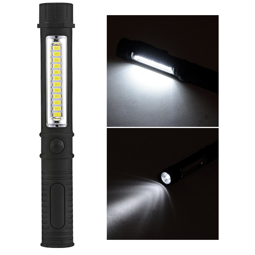 LED Waterproof Portable Mini Pen Shaped PVC Torch Light Inspection Work Light Magnetic Torch Flashlight