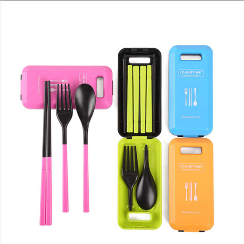 Cute Portable Travel Kids Adult My Cutlery Fork  Camping Picnic Set Gift for Child KIds