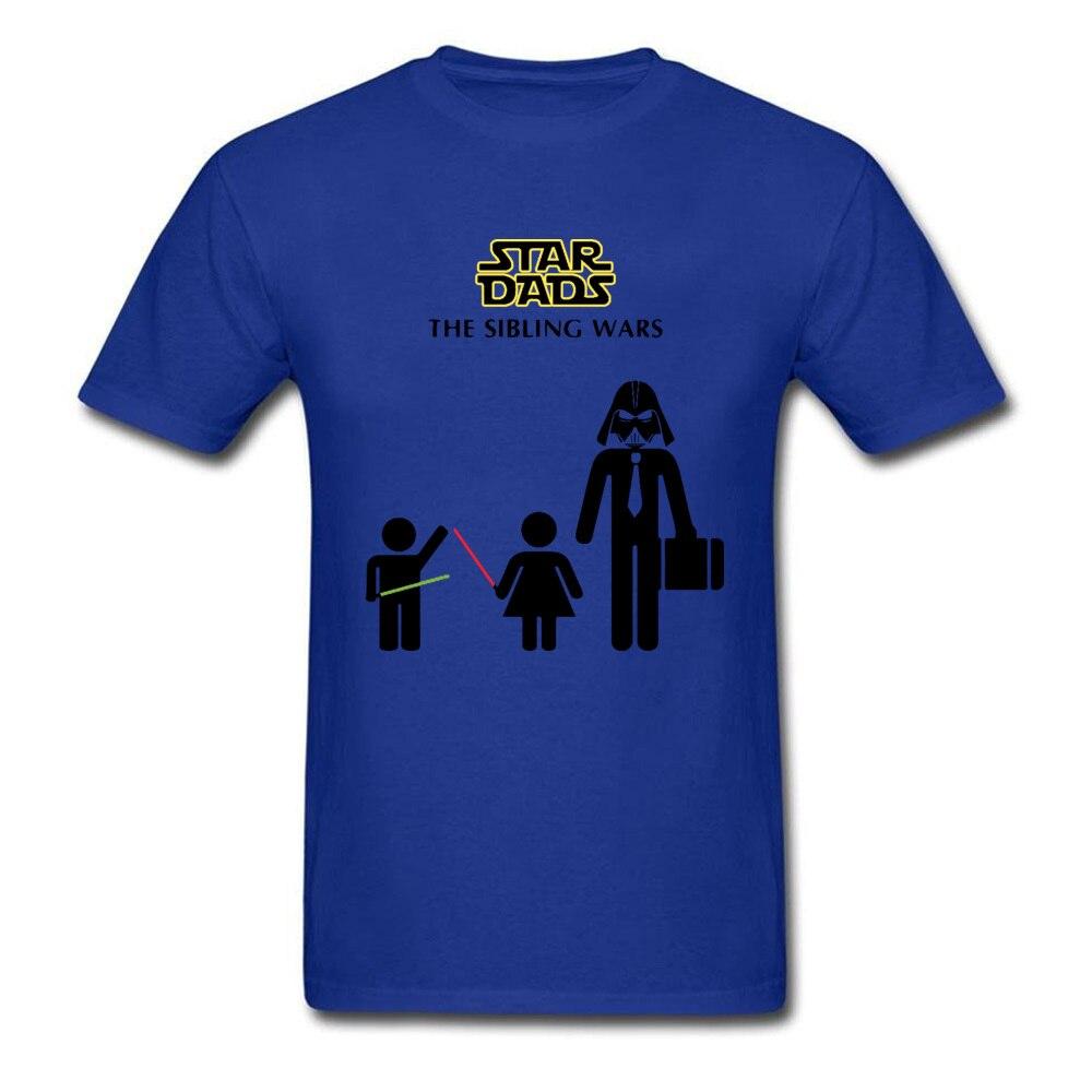 Star-Dads-The-Sibling-Wars-Darth Slim Fit Summer 100% Cotton Crewneck Mens Tops & Tees Clothing Shirt Prevailing T Shirts Star-Dads-The-Sibling-Wars-Darth blue