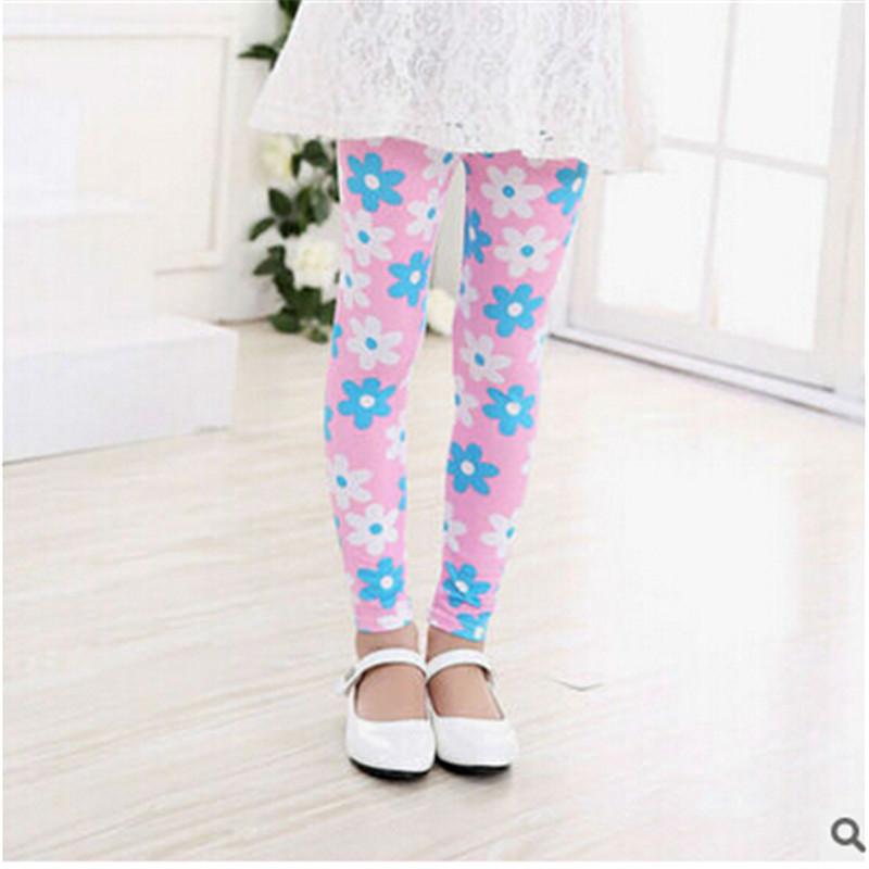 New Style Spring Autumn Children Leggings Flower Butterfly girls pants kids legging 14