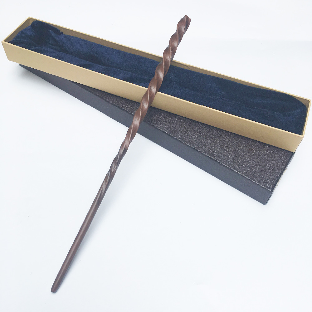 Colsplay Metal Core Newest Quality Deluxe COS Xenophilius Lovegood Magic Wands/Stick with Gift Box Packing Harry Potter