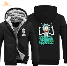 Science Moive Rick and Morty Hoodies Men 2019 Spring Winter Crazy Peace Among Worlds Print Funny Sweatshirt Mens Jackets