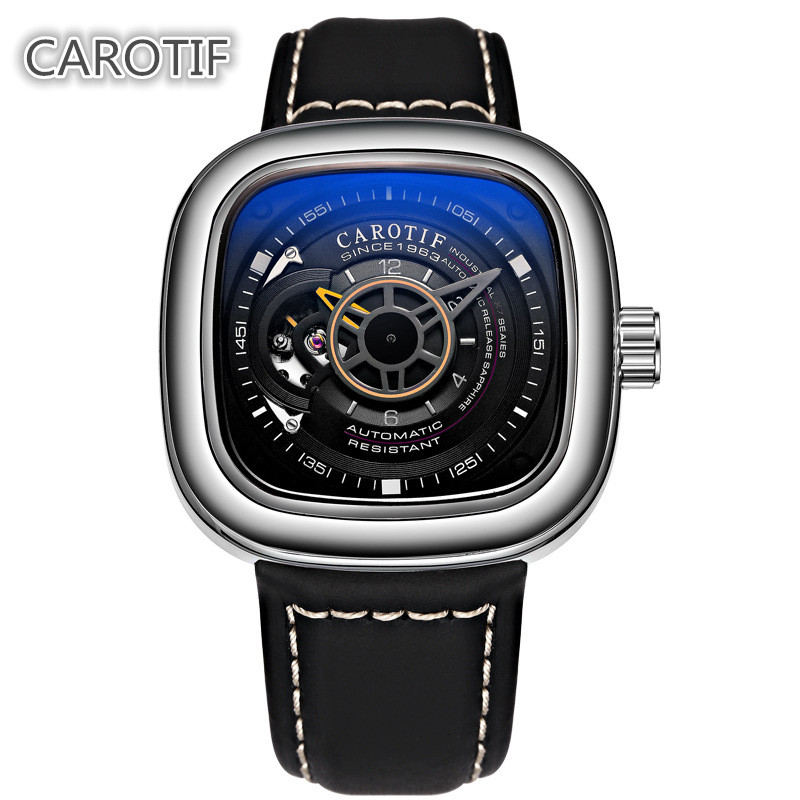 Top Brand Luxury CAROTIF Tourbillon Men Watches Men Montre Automatic Mechanical Wrist Watches Reloj Hombre Business Watch Man mens watches top brand luxury 2017 aviator white automatic mechanical date day leather wrist watch business reloj hombre
