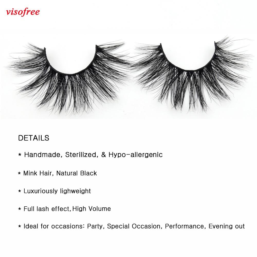 c7748f6f6d0 visofree eyelashes 3D Mink Lashes Full Strip Lashes False Eyelashes ...
