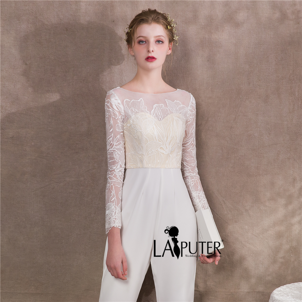 Laiputer Fashionable Bride Dress Pants Straight Two way Stretch ...