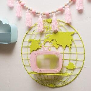 Image 5 - Décoration scandinave, étagère de cartes du monde en métal, support de rangement, décoration de chambre denfant, nouvelle collection 2018