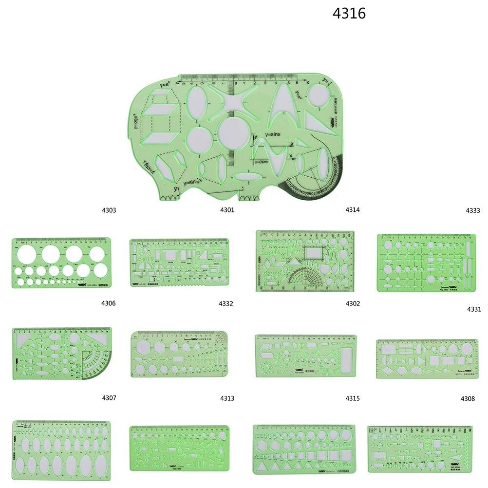Herrscher 1 Stücke Kunststoff Qualität Mehrzweck Vorlage Herrscher Professionelle Vermessung Und Kartierung Zeichnung Werkzeuge Fuß 18 Arten Von Stil