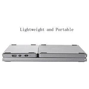 Image 4 - VONTAR clavier russe pliable sans fil, Rechargeable, bluetooth, avec pavé tactile, pour tablette IOS/Android/Windows