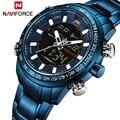 2018 мужские часы люксовый бренд NAVIFORCE армейские военные спортивные часы мужские полностью Стальные кварцевые цифровые аналоговые часы Relogio ...