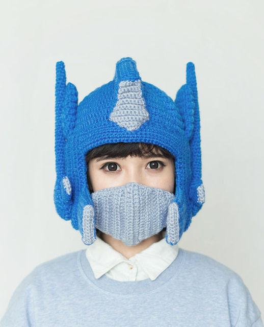 Aliexpress Buy Transformer Optimus Prime Crochet Costume Hat
