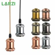 LARZI Retro Vintage Edison E27 Aluminum Base Lamp Bulb Holder Pendant Lighting Socket Ceiling Lamp Adaptor Cable 110V/220V стоимость
