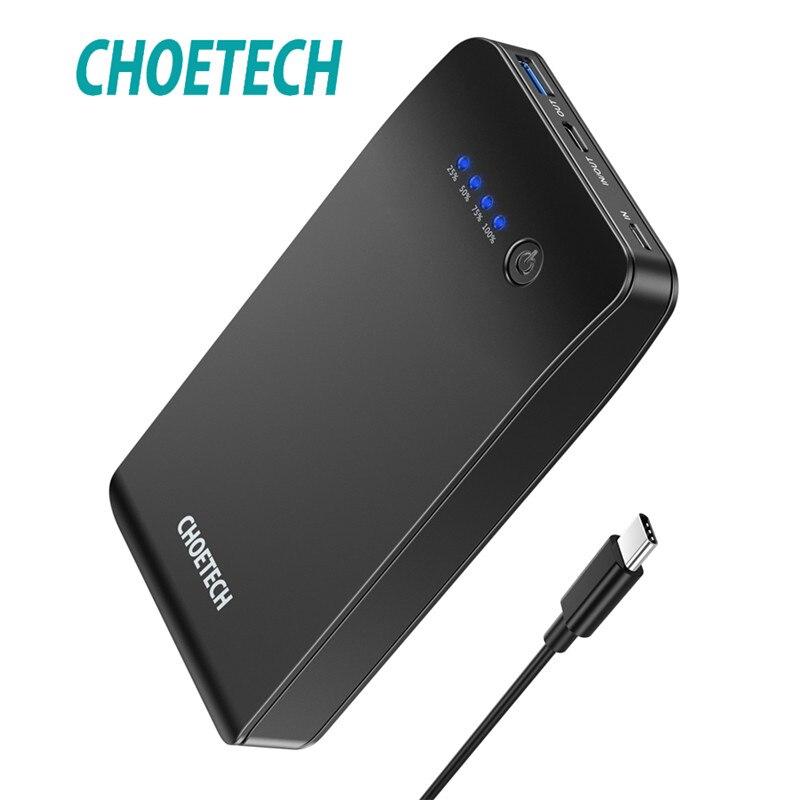 CHOETECH rapide Charge3.0 batterie externe 20000 mAh chargeur Portable batterie externe pour Xiaomi téléphones mobiles rapide sans fil batterie externe