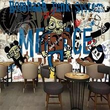 3d фотообои креативный тренд уличный граффити бар КТВ фон настенная
